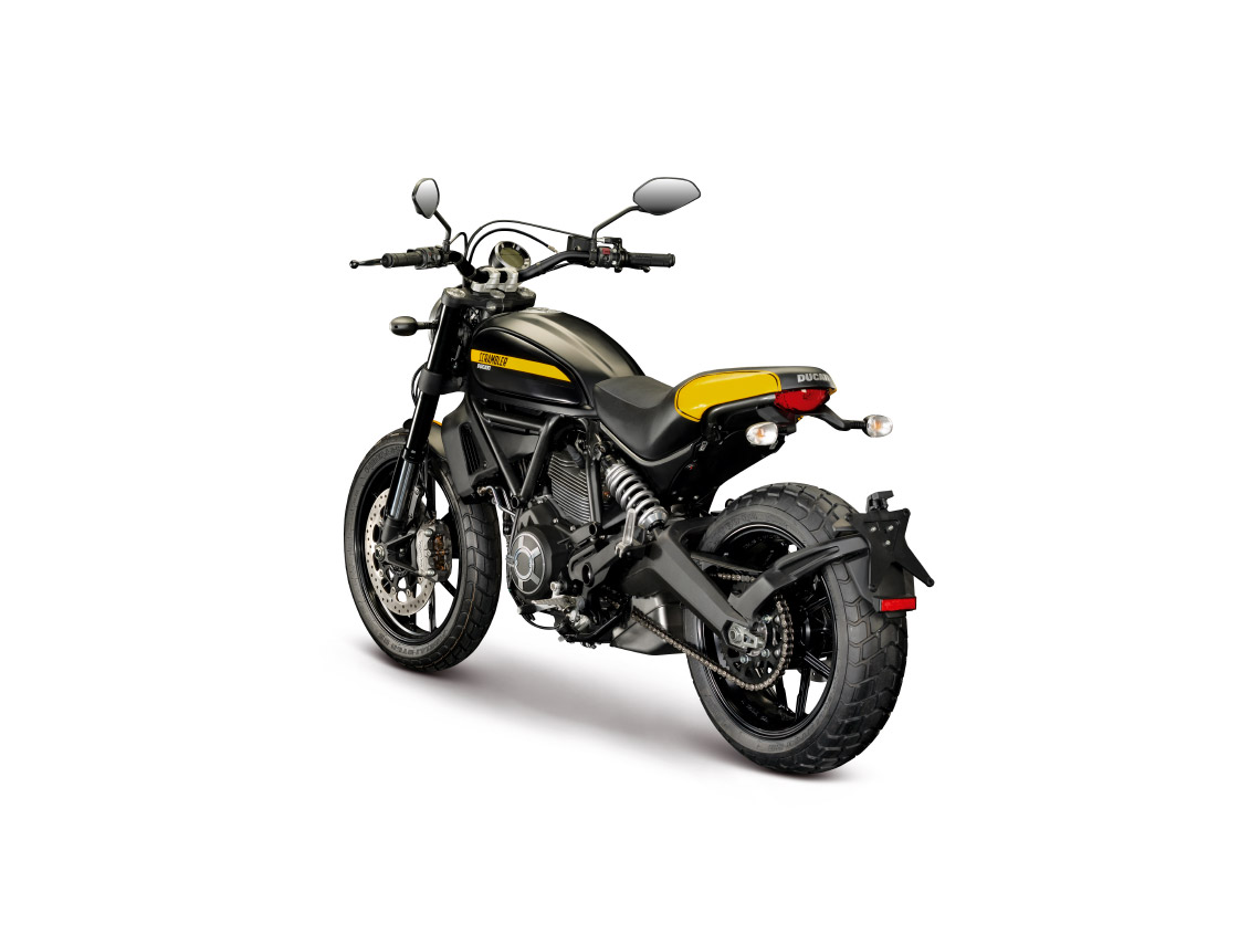 ducati scrambler full throttle abs 2015 in schwarz gold. Black Bedroom Furniture Sets. Home Design Ideas