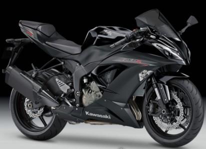Kawasaki Ninja ZX 6R ABS 2014 Schwarz