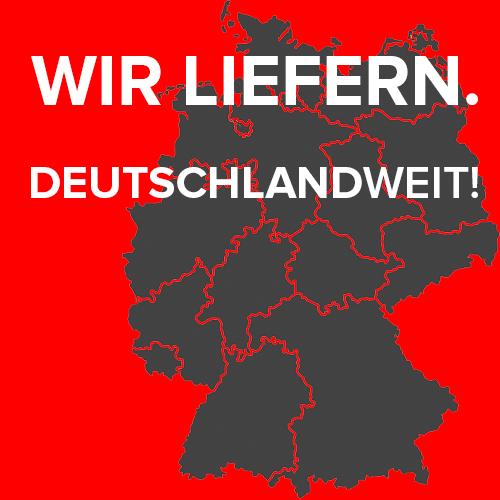Wir liefern Deutschlandweit