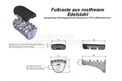 Fußrasten-Kit