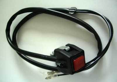 Schalter eckig (Typ Taster) für Engine Stop