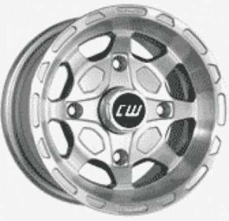 1 Satz CW Alu Felgen silber-poliert mit Teilegutachten f. King Quad + Grizzly 660 von CW bei Road Monkeys